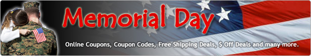 Memorial Day coupon code, Memorial Day coupons, Memorial Day promotions, Memorial Day promo Code